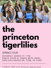 The Princeton Tigerlilies are holding a free a capella