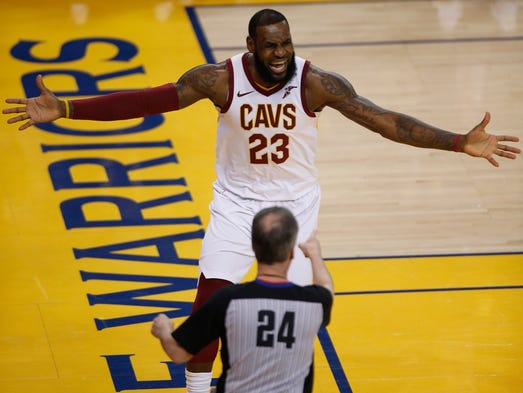 1d04b5674e9c June 3  LeBron James reacts to a call against him by