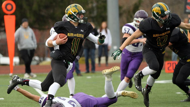 Griff Stalcup and Burr and Burton are aiming for back-to-back Division II high school football crowns.