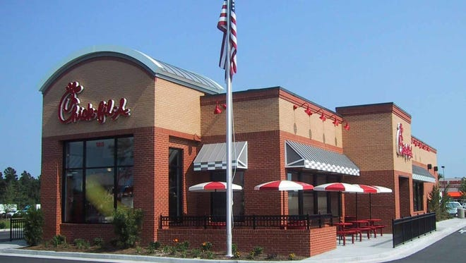 Exterior of a Chick-fil-A store.