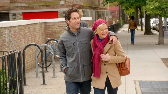 """Paul Rudd and Amy Poehler star in the rom-com spoof """"They Came Together."""""""