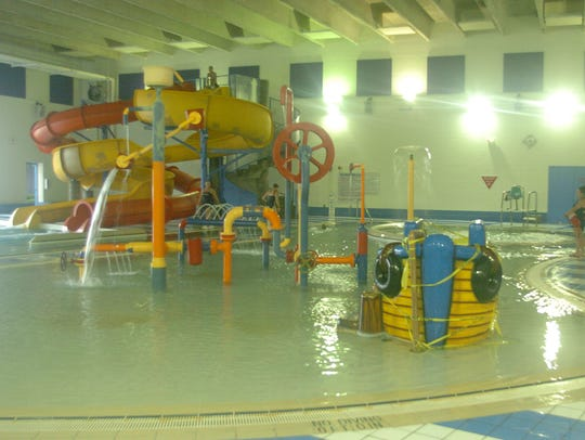 Two slides were removed from the indoor pool at Flash