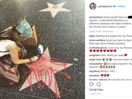 Paris Jackson cleans her father Michael Jackson's Hollywood