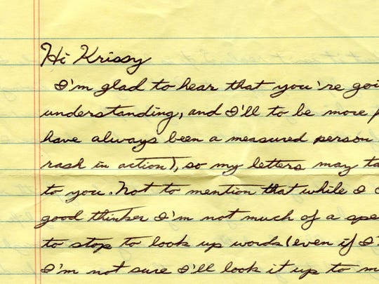 This images shows a portion of a letter written by serial killer Kendall Francois in 2012 to a City of Poughkeepsie woman.