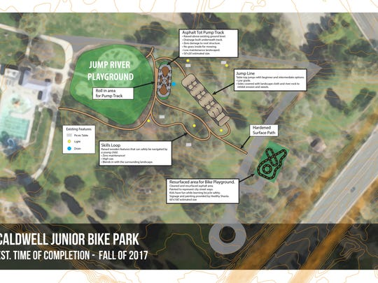 Plans for the Caldwell Junior Bike Park