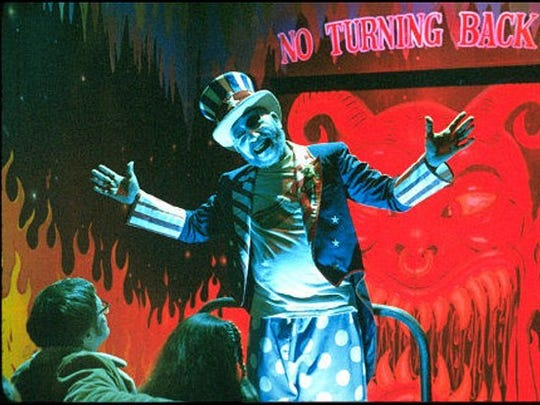 "Sid Haig as Capt. Spaulding in ""House of 1,000 Corpses."""