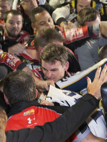 Jeff Gordon is in the middle of a fight after the NASCAR