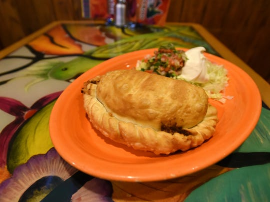 The sopapilla is one of the most popular items on El Perian's large menu.