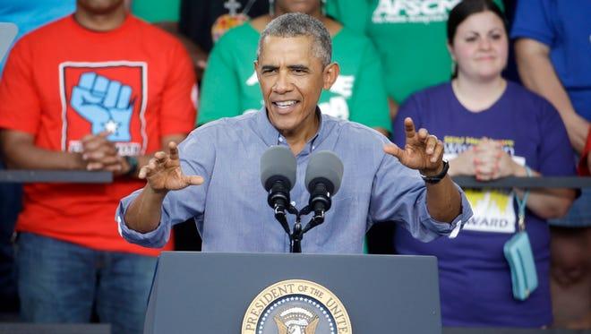 President Obama speaks at Laborfest 2014 at Henry Maier Festival Park on Monday