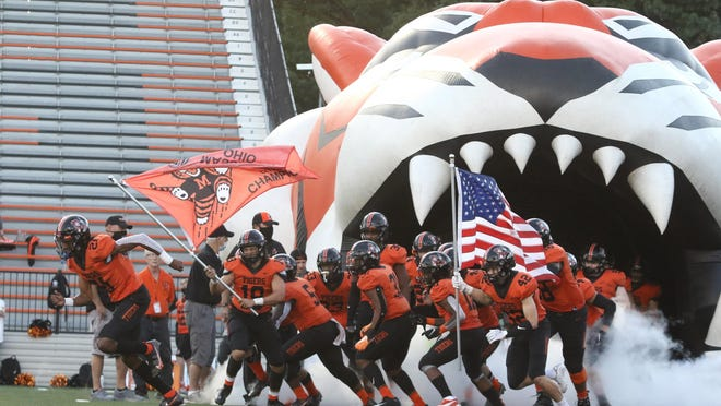 Massillon takes the field for its Week 2 game against Columbus Bishop Sycamore Friday September 4th 2020.