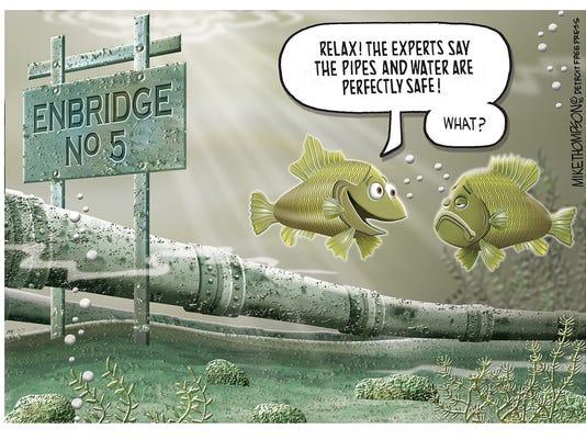 Mackinac oil pipeline