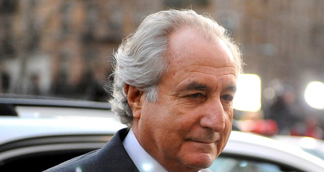 File photo from March 2009 shows Ponzi scheme architect Bernard Madoff arriving at Manhattan federal court in New York City.