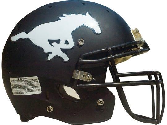 South Western football helmet.