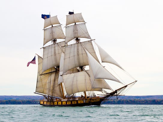 A replica of the Brig Niagara, which played a key role