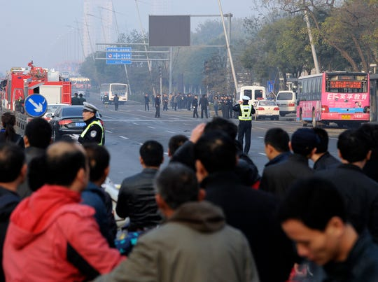 Blasts near Communist Party building kill 1 in China
