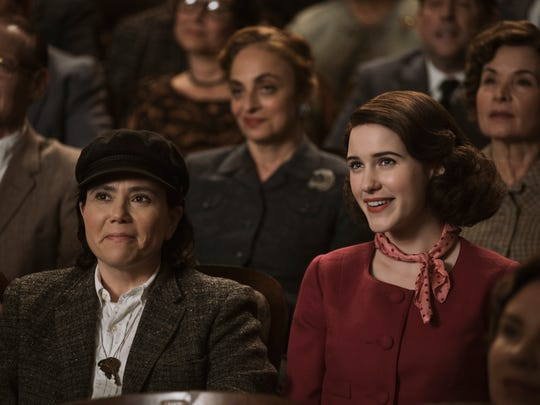 Midge (Rachel Brosnahan, right) teams up with comedy