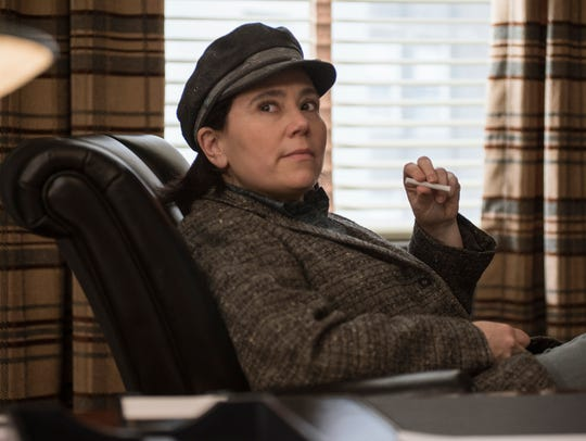"Alex Borstein in Amazon's series ""The Marvelous Mrs. Maisel,"" for which she was nominated for an Emmy for Best supporting actress."