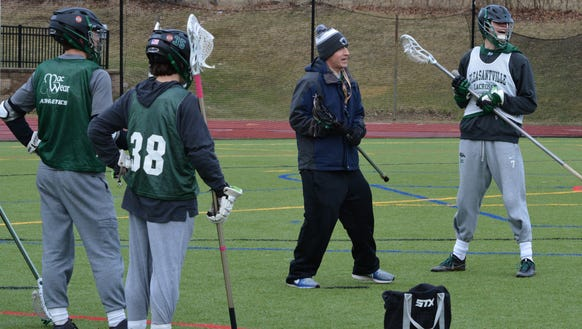 Pleasantville coach Chris Kear instructs the Panthers