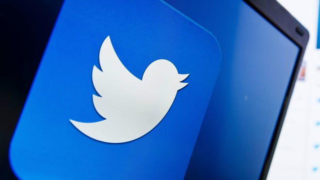 The logo of the social networking website Twitter.