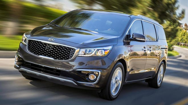 A 276-hp V-6 is standard on all Sedona models, as is a six-speed automatic transmission and front-wheel drive. The SXL test model rated 17 mpg in the city and 22 highway.