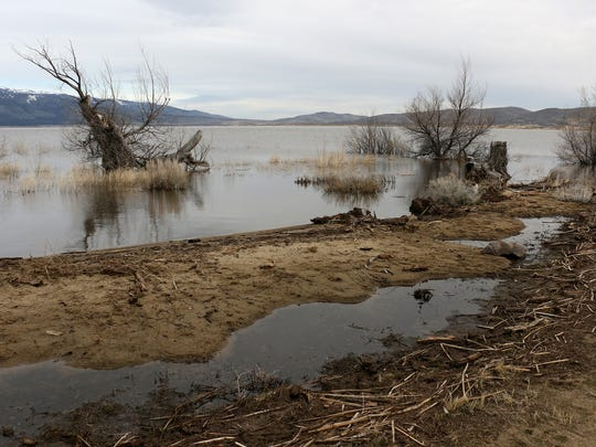 Washoe Lake is seen just south of Reno on April 5, 2017.