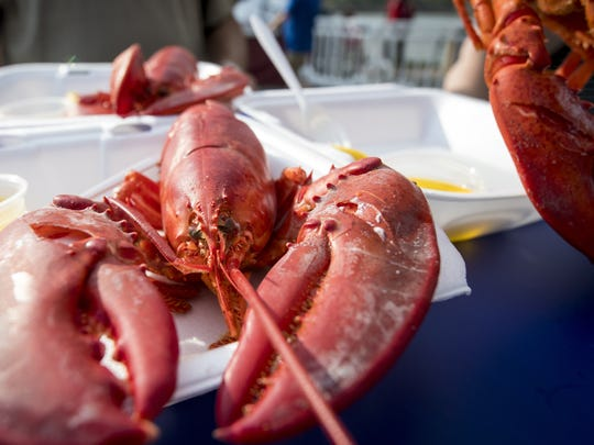 Whole lobsters are a crowd favorite at the Great Inland Seafood Festival.