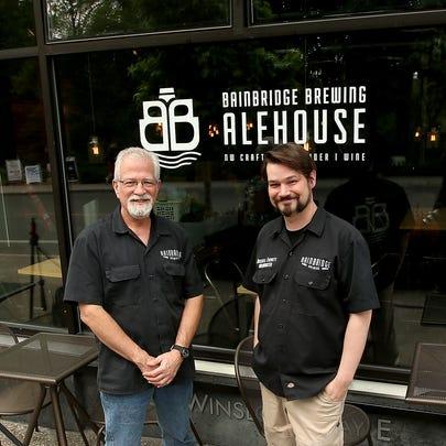 Chuck and Russell Everett at their new Bainbridge Brewing