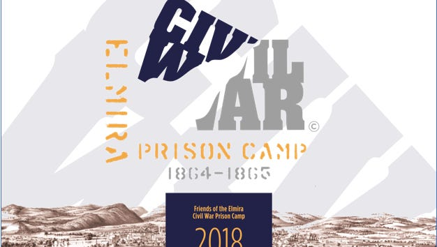 The cover of the second calendar in the Friends of Elmira Civil War Prison Camp's five-part calendar series, all for sale at the Christmas House.