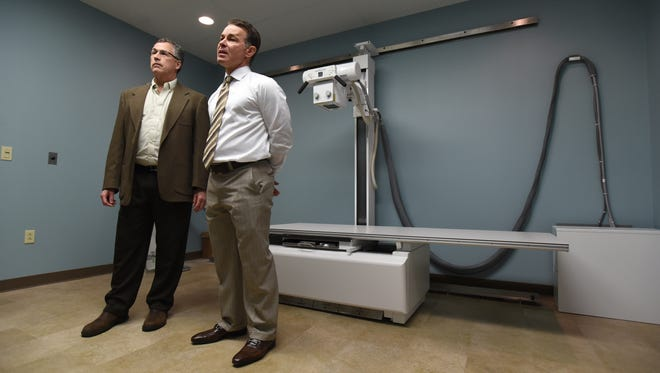 Dr. Brad Brautigan,right, and Dr. Steve Kimberly are partnering to open Xpress Ortho Care on Maple Avenue in Zanesville. It will provide orthopedic services seven days a week, including emergency care for maladies like broken bones and sprains.