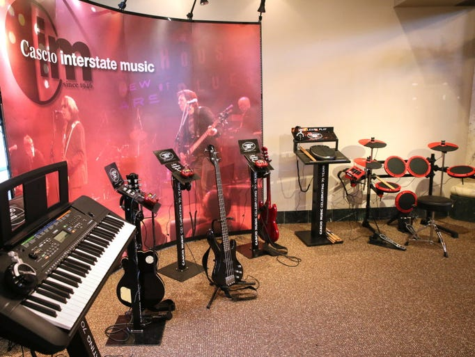 Cascio Music has donated several instruments that visitors