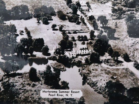 Vintage aerial photo of the Haring Homestead in Chestnut