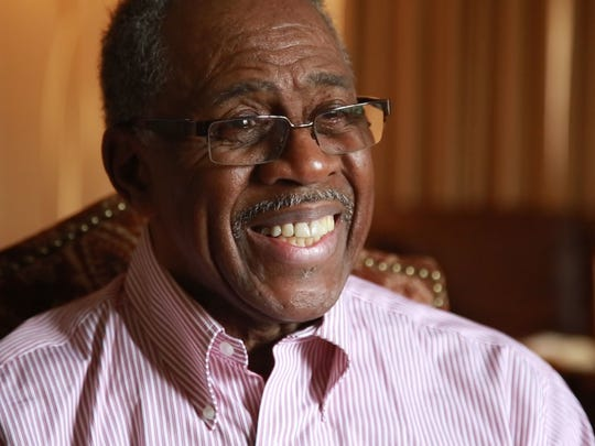 Artis Johnson, 77, lives across the street from Viola Liuzzo Park. He grew up in Sweet Water, Ala., and joined the civil rights movement when he was younger, sitting at whites-only lunch counters in protest.