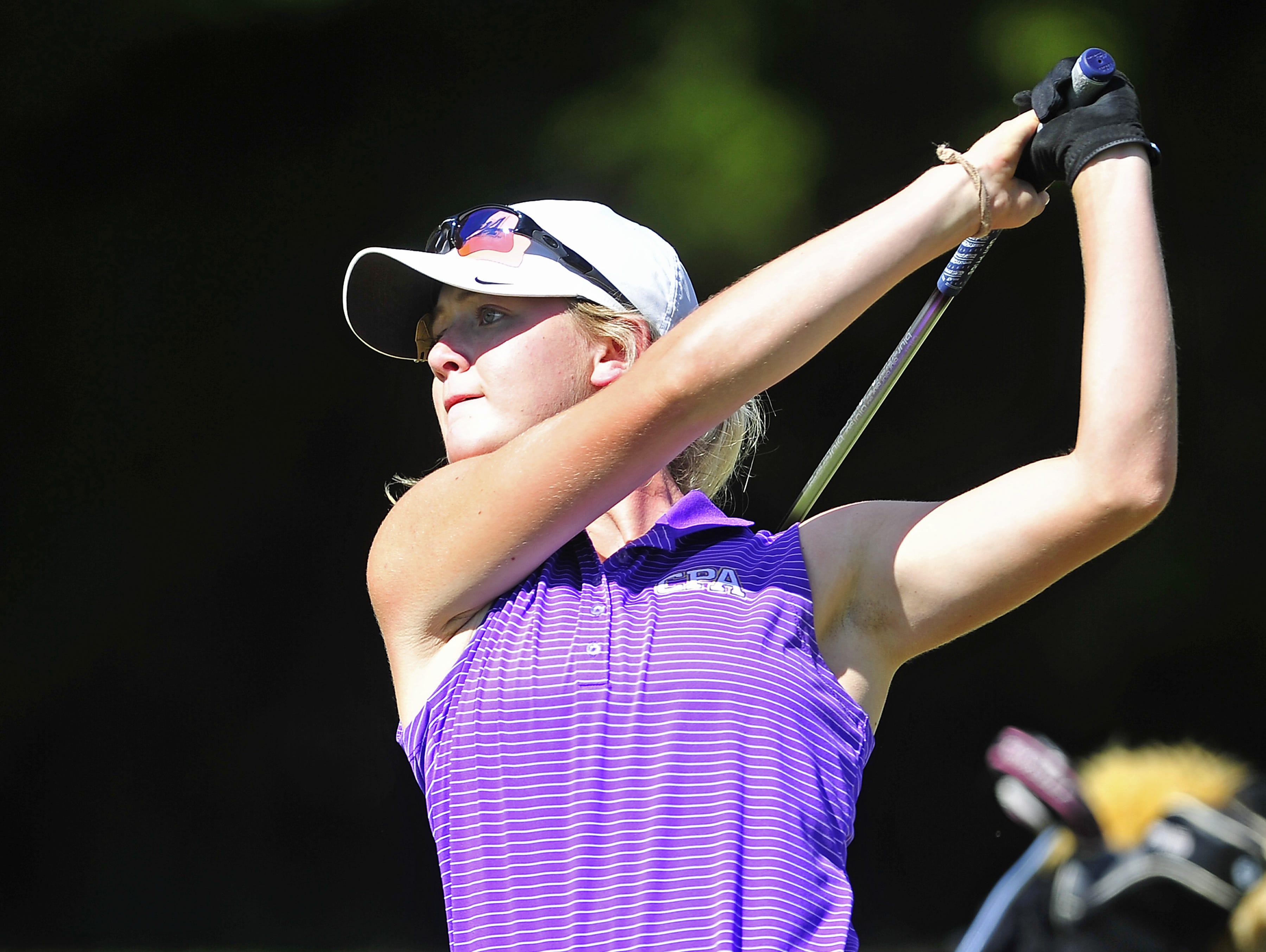 CPA's Siarra Stout won the Class A-AA individual girls golf title a season ago.