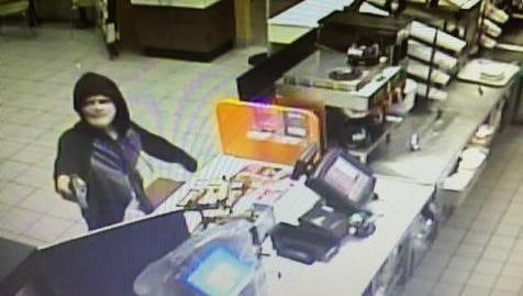 A photo of the Dunkin Donuts burglar.