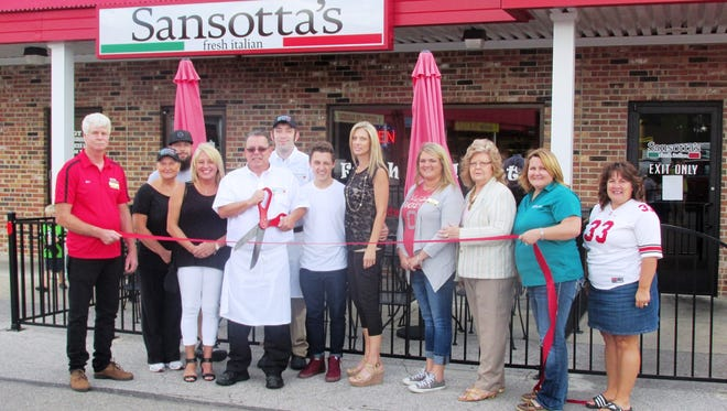 The Marion Area Chamber of Commerce Ambassadors recently joined Joseph (Joe) A. Sansotta II, wife Terri, family, friends and staff for the grand opening of Sansotta's Fresh Italian, 1292 Delaware Ave, Marion. Sansotta's Fresh Italian specializes in pasta dishes, salads, pizza and wine. Sansotta has 30 years of cooking hours.  They offer lunch and dinner specials, dine-in and carry-out. Hours are Monday to Saturday 10:45 to 8 p.m. and Sunday 10:45 a.m. to 5 p.m.