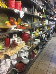 A variety of home goods, from dishes to decor, is available
