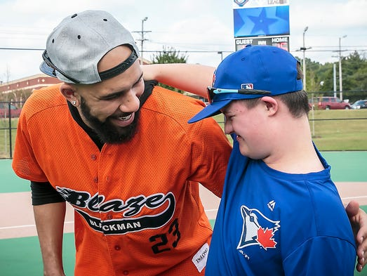 Boston Red Sox pitcher David Price and Miracle League