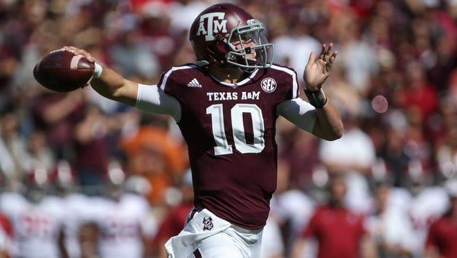 Texas A&M quarterback Kyle Allen (10).