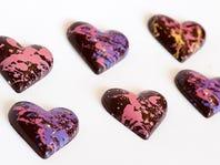 Blue Tulip chocolate hearts