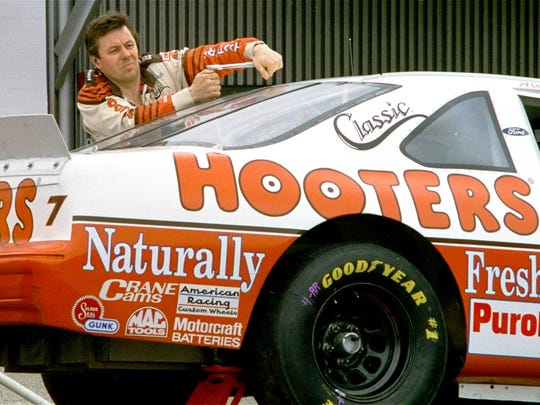 Race car driver Alan Kulwicki is shown as he working on his car March 26, 1993, prior to qualifying for the TranSouth Financial 500 race at Darlington Raceway in South Carolina.