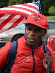 Bobby Holley has walked to cities near and far for his causes.