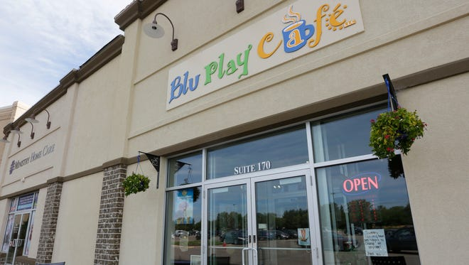 The exterior of the Blu Play Cafe in Wisconsin Rapids, August 23, 2016.