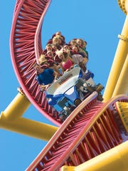 Top Thrill Dragster at Cedar Point throws you for a loop.