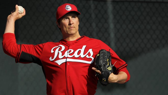 Reds starting pitcher Homer Bailey, out for the season, could be ready to throw by spring training next year.