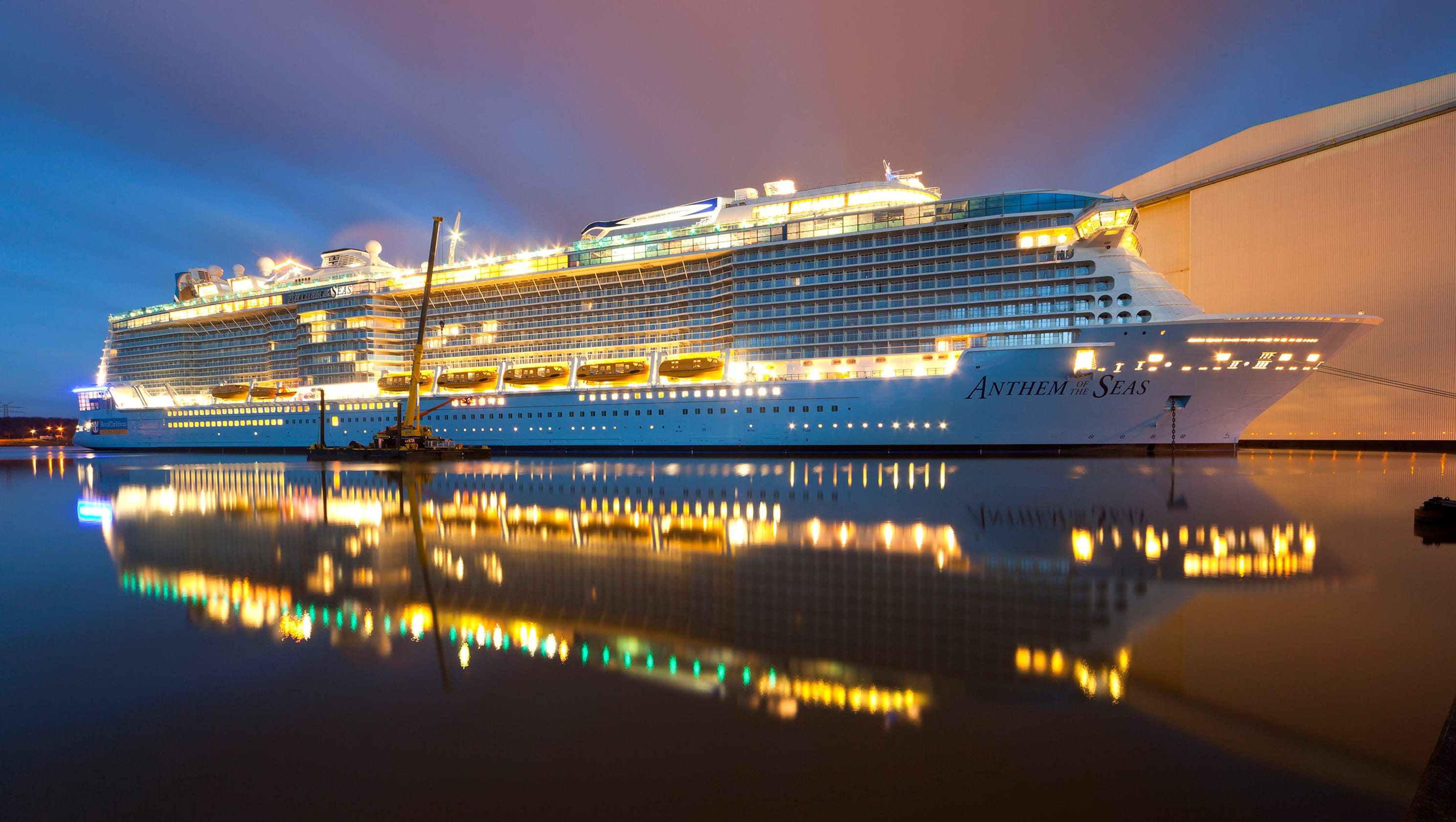 photos the making of royal caribbean s anthem of the seas