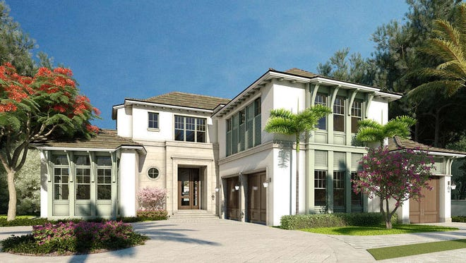 London Bay Homes' Port Royal estate home at 4395 Gordon Drive is nearing completion.