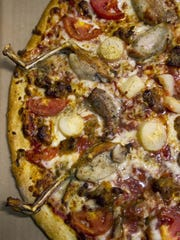 The Everglades Pizza from Evan's Neighborhood Pizza in Fort Myers.