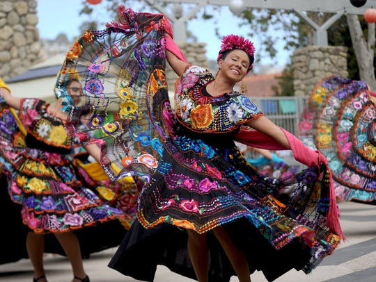 Lidia Rosales dances with the Ballet Folklorico Mestizo of Oxnard College during a past Dia de los Muertos celebration at the Museum of Ventura County. This year's celebration will take place from 11 a.m. to 4 p.m. Nov. 5 at the museum, 100 E. Main St.
