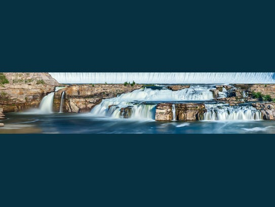 Todd Klassy's composite image of the Great Falls at