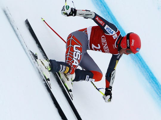 Bode Miller of the USA takes the 2nd place during the Audi FIS Alpine Ski World Cup Men's Super-G on January 26, 2014 in Kitzbuehel, Austria.